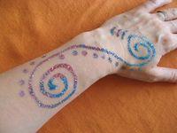 Tattoo paillettes 2